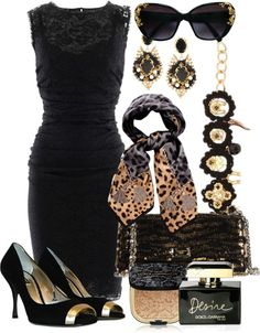 """""""Leopard & Lace"""" by gangdise on Polyvore"""