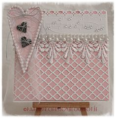 Handcrafted wedding card made with Sizzix and Spellbinder dies
