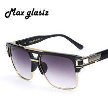 2016 New Fashion Square lunettes de Soleil Hommes Concepteur de Marque de luxe Hommes Soleil Lunettes Châssis Mâle Lunettes Oculos De Sol Masculino(China (Mainland))
