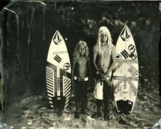 stersurf I met Rasmus and Kyuss King when they were wee lads back in 2011. The sun, the salt, the request not to blink during the long exposure for a wet plate is a hard thing to ask of a kid.   This week Kyuss is competing @vanssurf in Huntington Beach. You've come a long way baby! We are rooting for you!   #surfland #tintype #vansurf #kyussking