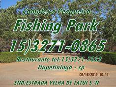 AÇÃO AMBIENTAL SUDOESTE PAULISTA: Fishing Park apoia o jornal ação ambiental sudoeste paulista