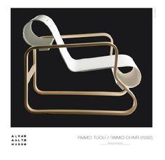 Poster Paimio chair black – Alvar Aalto Shop