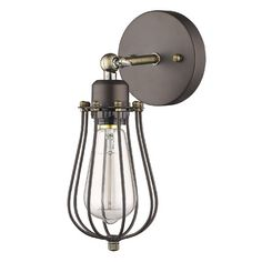 Chloe Lighting Ironclad 1 Light Wall Sconce & Reviews | Wayfair