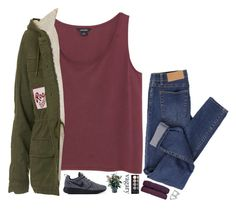 """""""never get out of my life love."""" by messyqueen ❤ liked on Polyvore featuring Monki, Topshop, Cheap Monday and Witchery"""