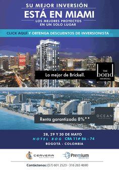 Su mejor inversión esta en Miami la cita es este 28, 29 y 30 de mayo  #USA #inversion #PremiumBrokers #Cervera