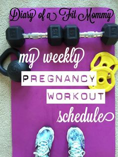 An easy to follow pregnancy workout schedule from a fit mommy of two. #fitpregnancy