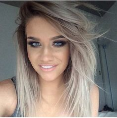 Ahh! That blonde mixed with grey colour is one of my faves