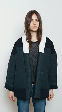 Isabel Marant Étoile Dempster Patchwork Quilted Jacket | La Garçonne