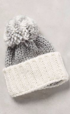 Colorblock Pom Hat