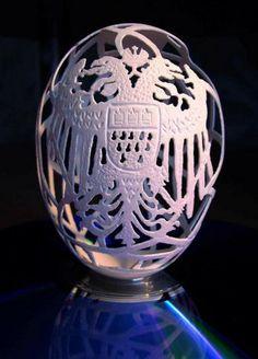 Eggshell Carving Art | Golberz.Com