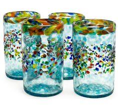 Bambeco Aqua del Sol Recycled Pint Glass - Set of 4