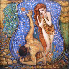 Rapture ( Adam and Eve) by Irina Karkabi