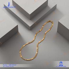 22k Plain Gold Chain (27.8 gms) - Plain Gold Jewellery for Men by Jewelegance (JG-2006-02794) #myjewelegance #chain #jewelleryformen #goldchain #classyjewellery