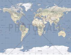 World Map - Tapetit / tapetti - Photowall