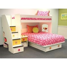 this is what I want for Ethin's room...in a bit more boyish colors and without the bed underneath. Want to make it a reading nook area