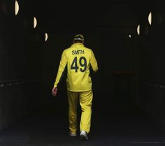 Steve Smith of Australia walks from the field during the 2015 Cricket World Cup match between Australia and Scotland at Bellerive Oval on March 14, 2015 in Hobart, Australia.