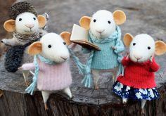 beautiful felt mice from Felting Dreams on Etsy