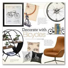 """""""Decorate with Bicycles :)"""" by alexandrazeres ❤ liked on Polyvore featuring interior, interiors, interior design, home, home decor, interior decorating, Zanotta, Dot & Bo, Pillow Decor and Trussardi"""