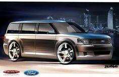 customized 2009 Ford Flex for the SEMA Show. My Dream Car, Dream Cars, Ford Flex, Porsche Boxster, Shooting Brake, Custom Paint Jobs, Van Camping, Camper Conversion, Future Car