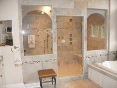 Frameless Shower Enclosure: Shower Wet Room - Furnished & Installed by Rex Glass & Mirror Co. Frameless Shower Enclosures, Frameless Shower Doors, Glass Company, Wet Rooms, Bathtub, Mirror, Bathroom, Modern, Standing Bath