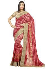 Pink Color Banarsi Upada Festival & Function Wear Sarees : Tarjani Collection  YF-41466