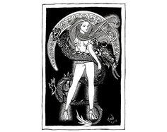 Erotic Art  Dragon Lady Pinup Erotic Art  Dragon by TadCoffinArt