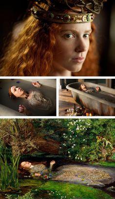 Amy Manson as Elizabeth Siddal, model for John Everett Millais' Ophelia (1851–1852). Desperate Romantics (2009)