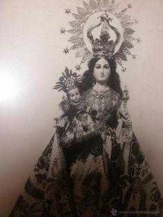 Antigua fotografía de la Virgen - Nuestra Señora de la Luz - de Murcia- años 50- enmarcada - regalo - Foto 5