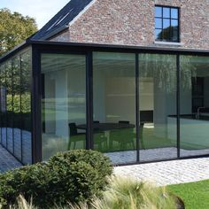 """Figure out additional relevant information on """"greenhouse architecture"""". Check out our web site. House Extension Design, Glass Extension, Extension Designs, Bungalow Extensions, House Extensions, Home Room Design, House Design, Pergola, Roof Light"""