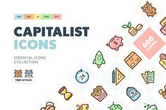 Capitalist Flat Icons Collection by PixelBuddha on @creativemarket