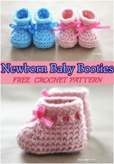 I have mentioned an amazing list of about 10 adorable crochet baby booties, espe. : I have mentioned an amazing list of about 10 adorable crochet baby booties, especially for a mother to crochet every little accessory for her little child. Crochet Booties Pattern, Crochet Baby Socks, Baby Booties Free Pattern, Newborn Crochet Patterns, Crochet Baby Clothes, Cute Crochet, Baby Knitting, Crocheted Baby Booties, Crochet Mignon