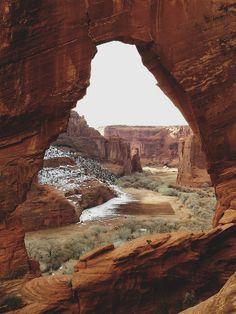 Canyon de Chelly's window rock. Arizona