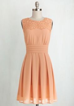 Bridesmaid !!!  V.I.Pleased Dress in Peach, @ModCloth