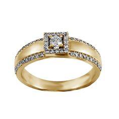 Regalia 14k White, Pink, or Yellow Gold 2/5ct TDW Diamond Ring (G-H, S1-S2) (Yellow Gold - Size 5), Women's