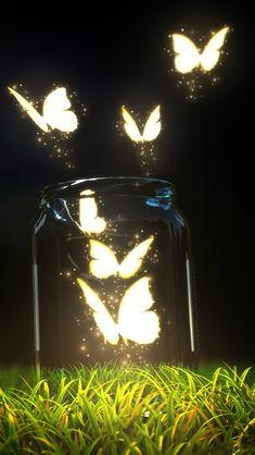 Fantasy Butterfly Jar #iPhone #5s #Wallpaper