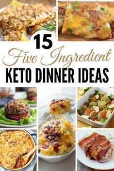 5 Ingredients Keto Dinner Ideas!