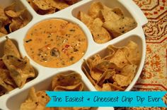 From the Horrible Housewife- the easiest and tastiest cheese dip recipe you will ever make for a party!