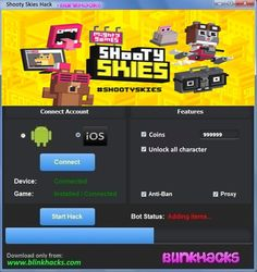 "Shooty Skies Hack Cheats Tool This Shooty Skies Hack will help you generate unlimited Coins   Shooty Skies Hack Cheat is our newest ""modhacks.com"" fresh from the oven. We worked hard on this one because,being a multi-platform Exploit it can be very difficult to write. After we tested this Shooty Skies Hack like someone's life depended … Continue reading Shooty Skies Hack Cheats"