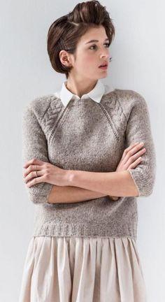 Ideas for knitting jumper pattern brooklyn tweed Jumper Knitting Pattern, Jumper Patterns, Sweater Knitting Patterns, Knitting Designs, Crochet Patterns, Brooklyn Tweed, Skirt Pattern Free, Free Pattern, Pull Torsadé