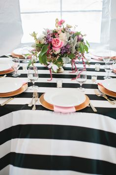 Striped Table .