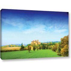 ArtWall Dragos Dumitrascu Italian Castle Gallery-wrapped Canvas Art, Size: 24 x 36, Green