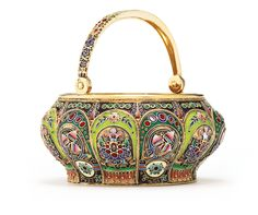 A Russian gilded silver and enamel swing-handled sugar bowl, 11th Artel, Moscow, 1908-1917 | Lot | Sotheby's