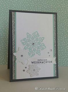 Weihnachtskarte mit dem Flockenzauber von Stampin up - Freshly Made Sketches 206                                                                                                                                                                                 Mehr