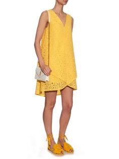 Osman Zita broderie-anglaise cotton dress
