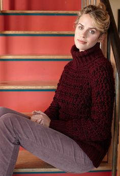 Sparkling Burgundy Top Pattern (Crochet)