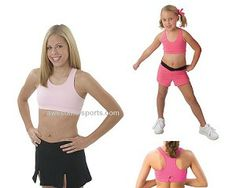 62273bbc57 Pizzazz® MVP Sports Bra with Racer Back Design Shop awesome-sports.com  Cheerleading