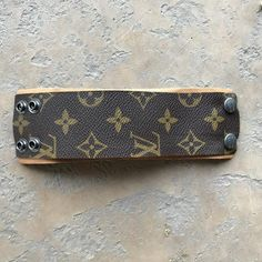 900df7b14f4c Large Width Cuff Bracelet Made From Upcycled Louis Vuitton LV Monogram - A  new way
