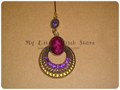 Party Hijab Pins Purple/ Deep Teal  Dangle by MyLittleHijabStore, $3.99