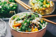 Kurpitsa-feta salaatti