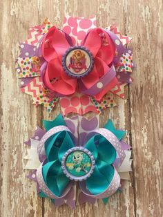Paw Patrol Everest and Skye Hair bows - YOU CHOOSE OPTIONS! by binspiredbylife on Etsy